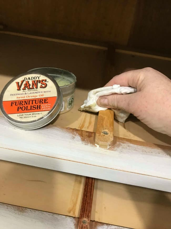 furniture polish, prevent drawers from sticking, daddy vans, beeswax