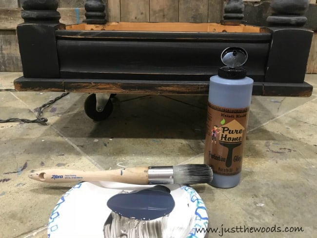 sealing black distressed furniture, how to distress black painted furniture