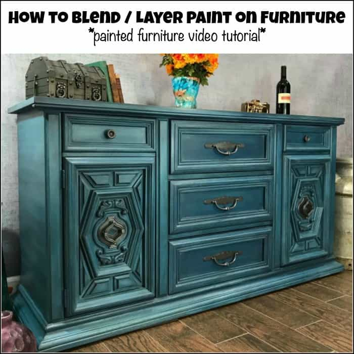 wonderful Purple Chalk Paint Furniture Part - 18: ... how to blend and layer paint, layering paint, how to layer paint, layer