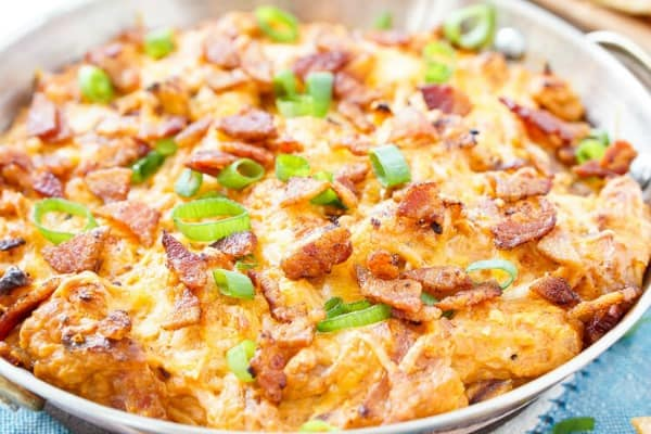 cheesy bacon dips, football dip recipes, super bowl dips