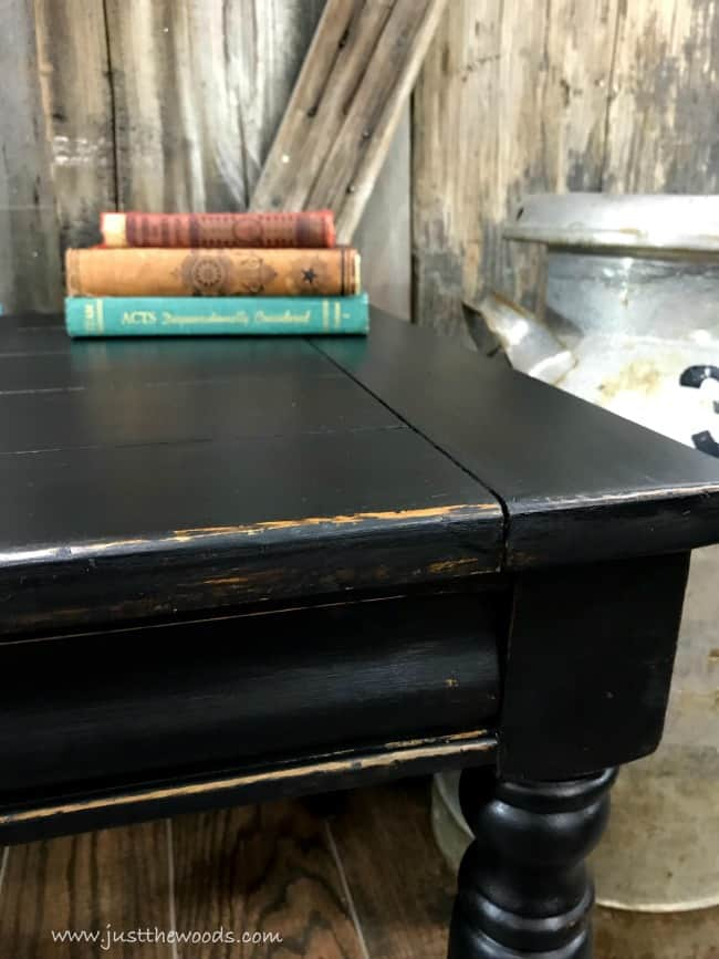 distressed black paint, distressed black painted furniture, black painted furniture, farmhouse table