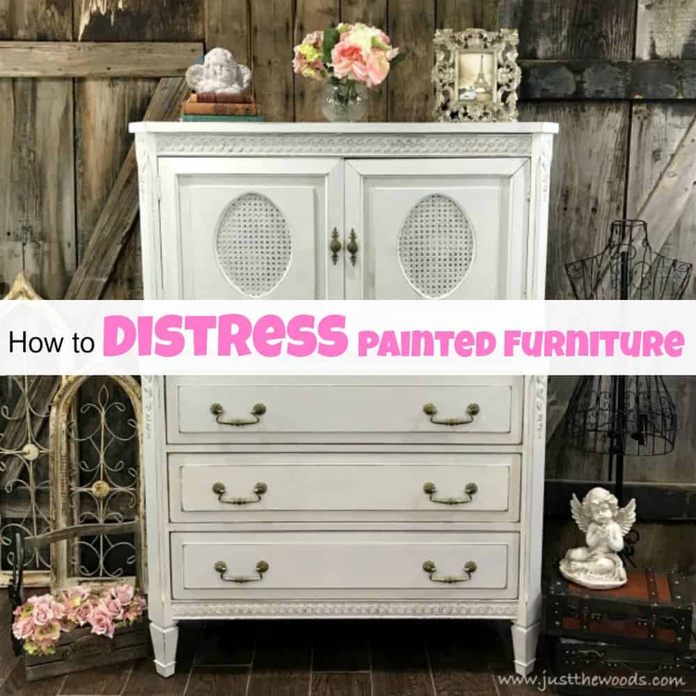 How To Distress Painted Furniture For A Beautiful Worn Look