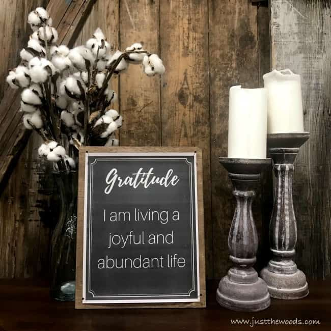 gratitude affirmation, positive affirmation prints, diy picture frame ideas