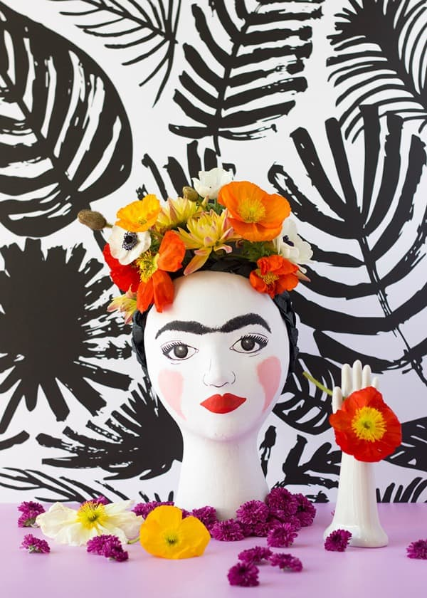 head vase, diy vases, vase ideas, decorating flower vase, diy decorative vase