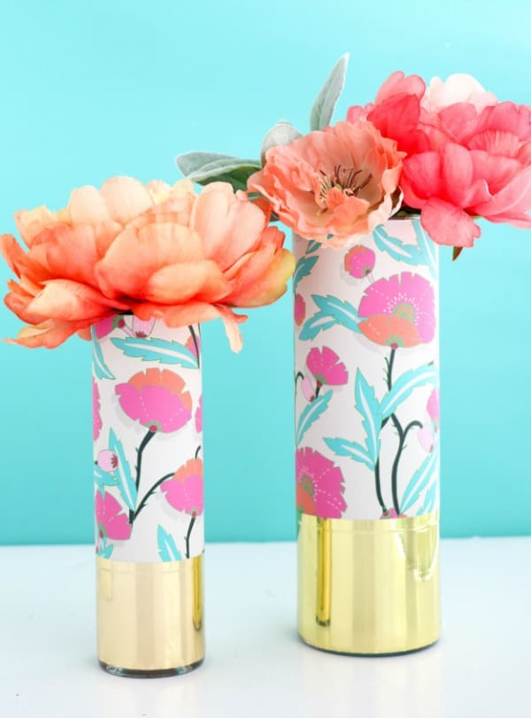 decorative vase ideas, diy vase decor, diy vases, craft ideas for flower vases