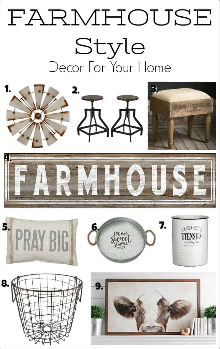 farmhouse decor, farm style decor