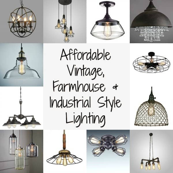 farmhouse lighting, vintage style lighting, industrial lighting