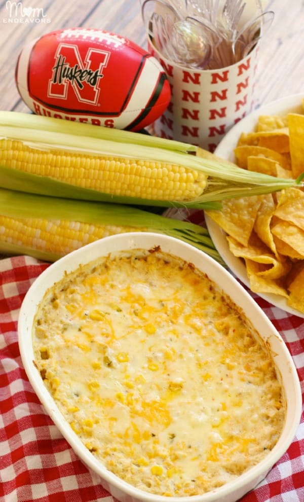hot corn dip, game day dips, super bowl party dips, dips and appetizers