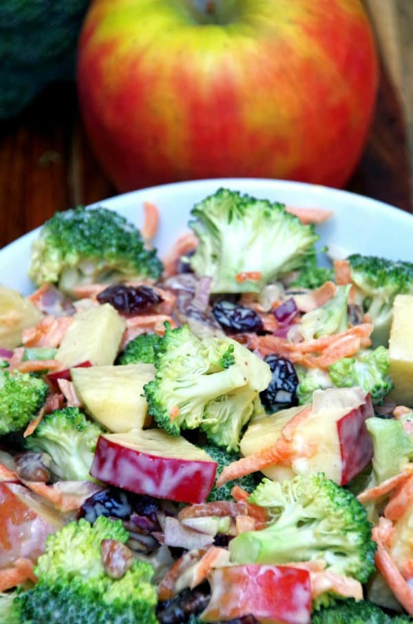 summer salad recipes, broccoli apple salad, healthy salad recipes