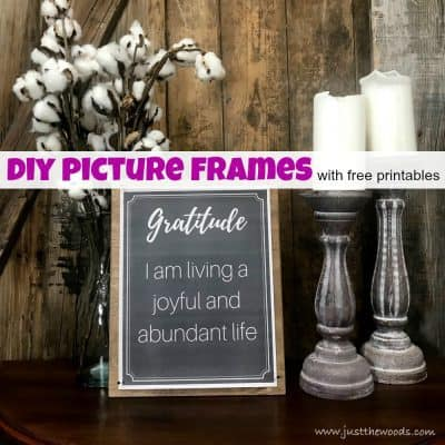 How to Make a DIY Picture Frame for Art Prints with Free Printables