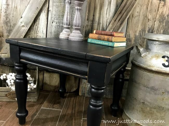 painted black farmhouse table, black painted furniture distressed, distressed black paint