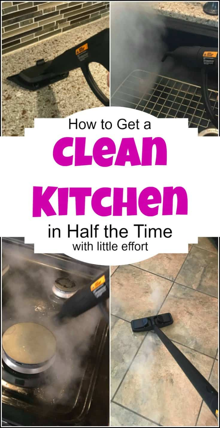 Get a Clean Kitchen in Half the Time & With Less Effort and no harsh chemicals. No one likes to clean the kitchen, but its necessary. Let it also be easy with a HomeRight steam machine. | clean kitchen | how to clean the kitchen | kitchen cleaning | best way to clean the kitchen | kitchen cleaning tips |