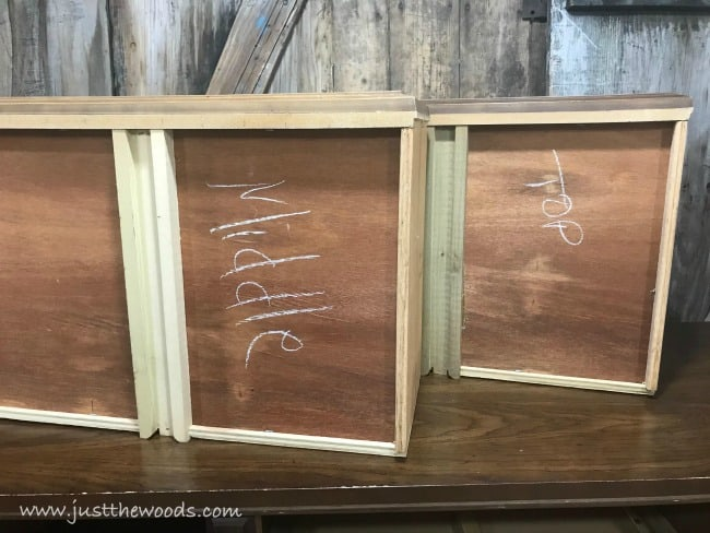 how to paint furniture, label drawers, prep furniture for paint