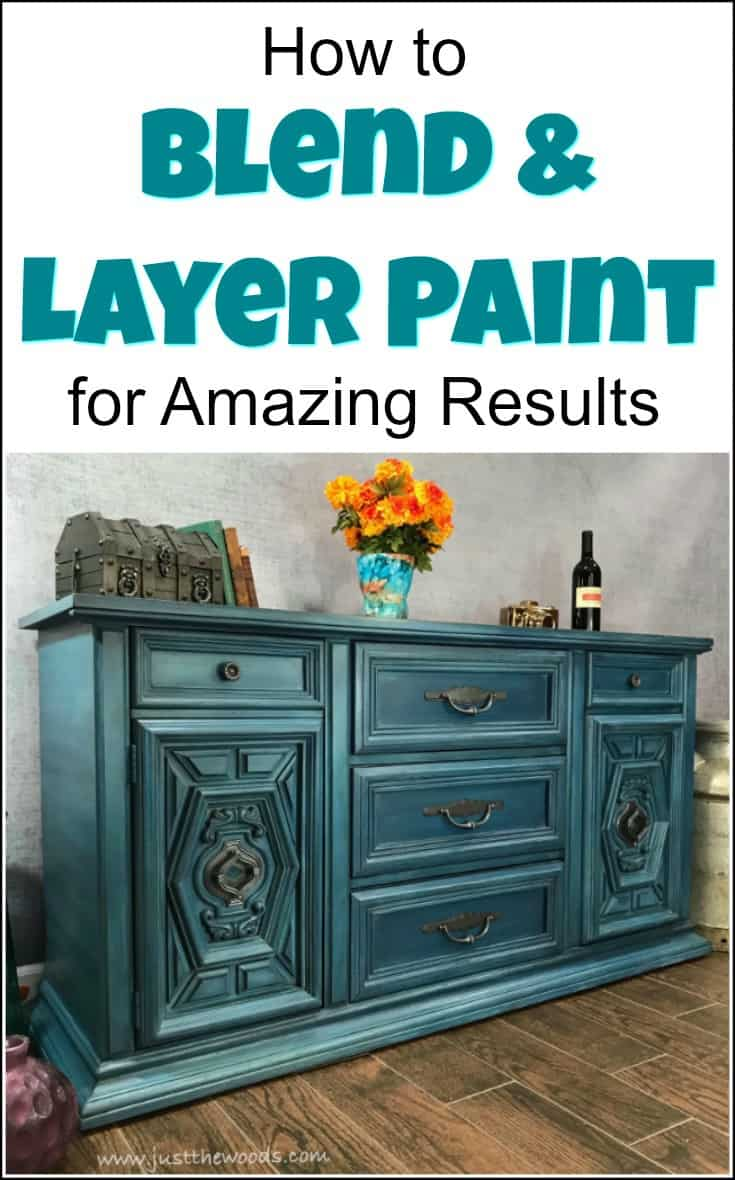 How to Blend & Layer Paint for Amazing Results on your painted furniture projects. Learn the furniture painting technique of blending and layering multiple colors while painting furniture to achieve a gorgeous finish. Layered painting techniques are truly one of a kind. | furniture painting techniques | layered painting technique | how to layer paint on furniture | layer paint | how to blend chalk paint |