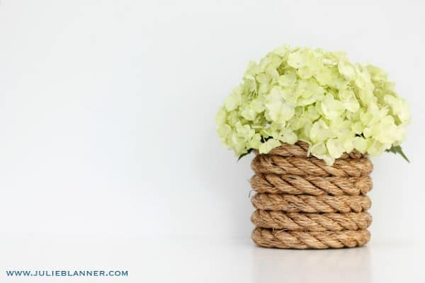 diy vases, rope vase, how to decorate a vase, creative diy vase ideas
