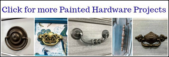 painted hardware, how to paint hardware, painting hardware