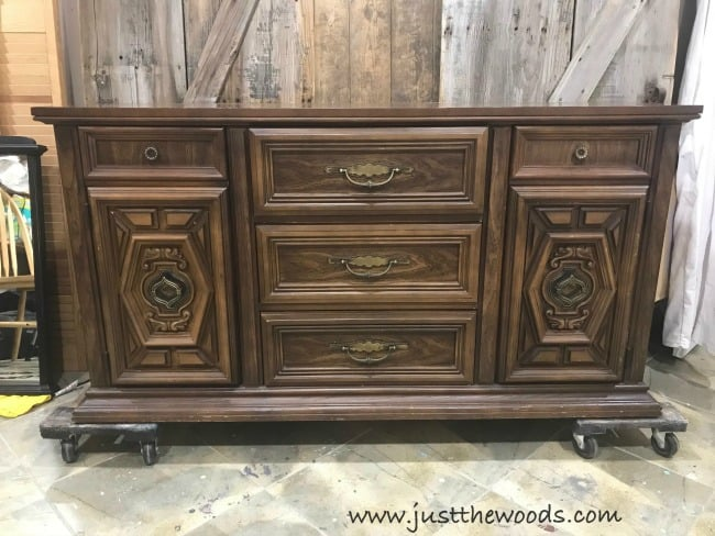 vintage furniture, vintage buffet, layering paint on furniture, how to blend and layer paint