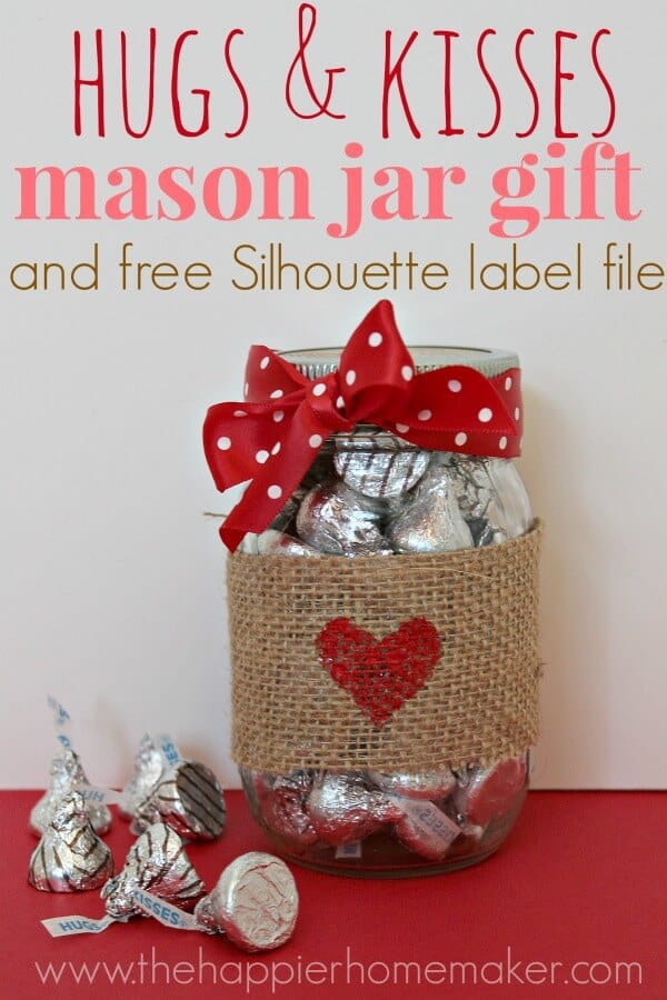 hershey kiss mason jar, easy valentines day project, valentine project for kids