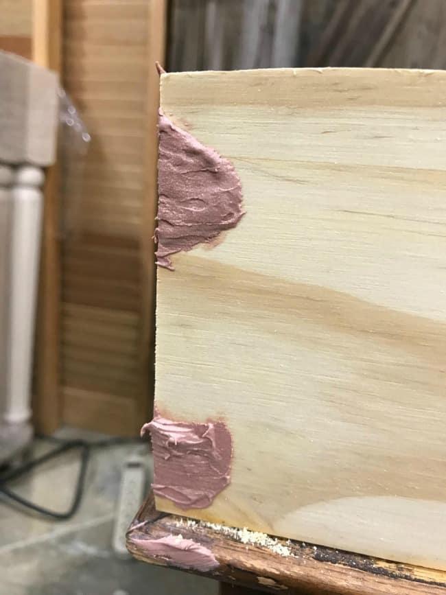 bondo repair, woodfiller, repair wood bondo, repair furniture, fix furniture diy
