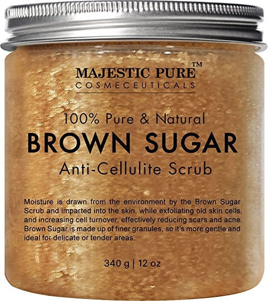 brown sugar body scrub, natural essential oils