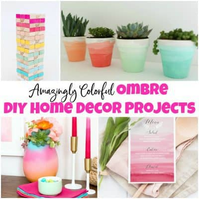 Amazingly Colorful Ombre DIY Home Decor Projects to Inspire You
