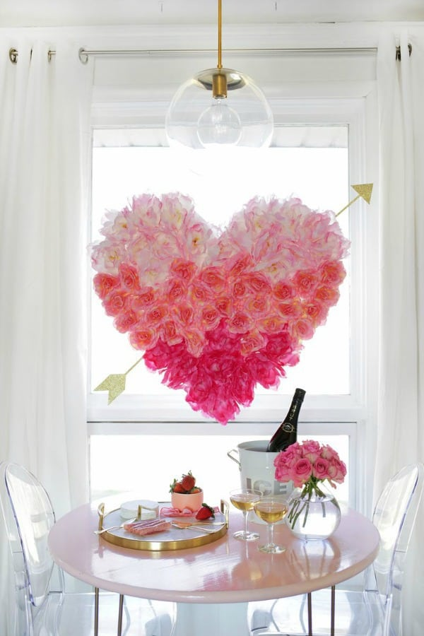 ombre heart projects, diy home decor ideas, home decor ideas, ombre diy decor ideas