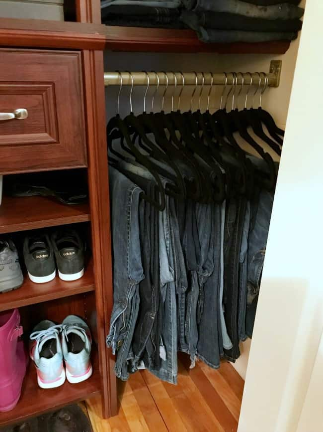 small closet organization, organize small closet with lots of clothes