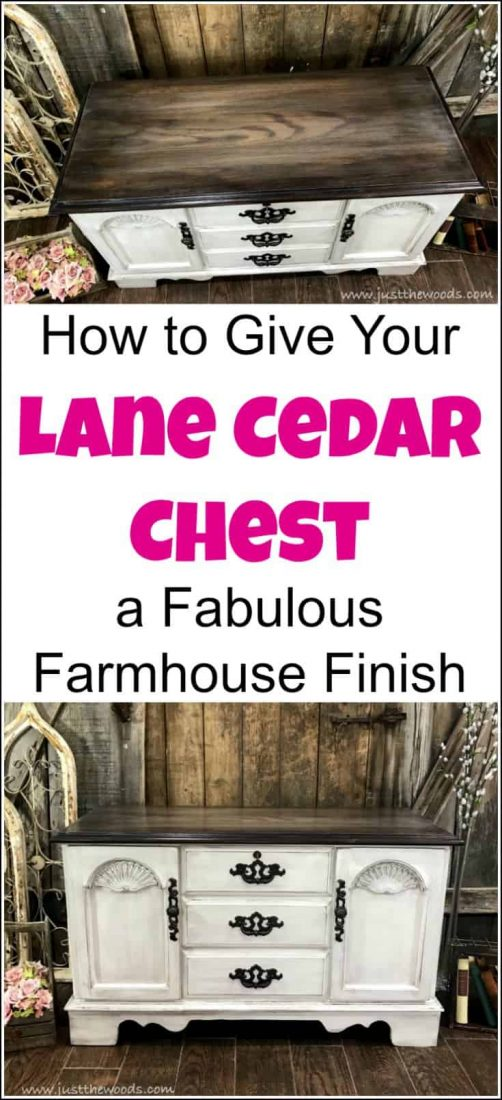 Give your vintage Lane cedar chest a painted furniture makeover. Combine chalk paint with stain for a farmhouse finish. Find painted hope chest ideas, painted furniture, lane chest redo, painted lane chest, refinished lane cedar chest, how to paint a cedar chest, painted hope chest, how to refinish an old cedar chest, how to paint a lane cedar chest, painted furniture makeover, painted furniture before and after, lane cedar hope chest, lane hope chest, how to paint furniture farmhouse style, painted cedar chest.