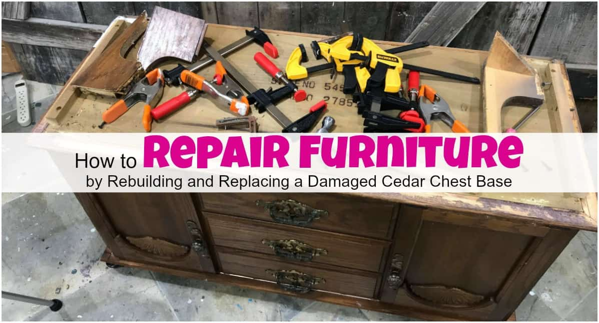 How To Save Amp Repair Furniture By Rebuilding The Damage Area