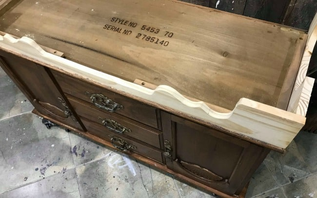 how to replace furniture legs, replace furniture base, build cedar chest base
