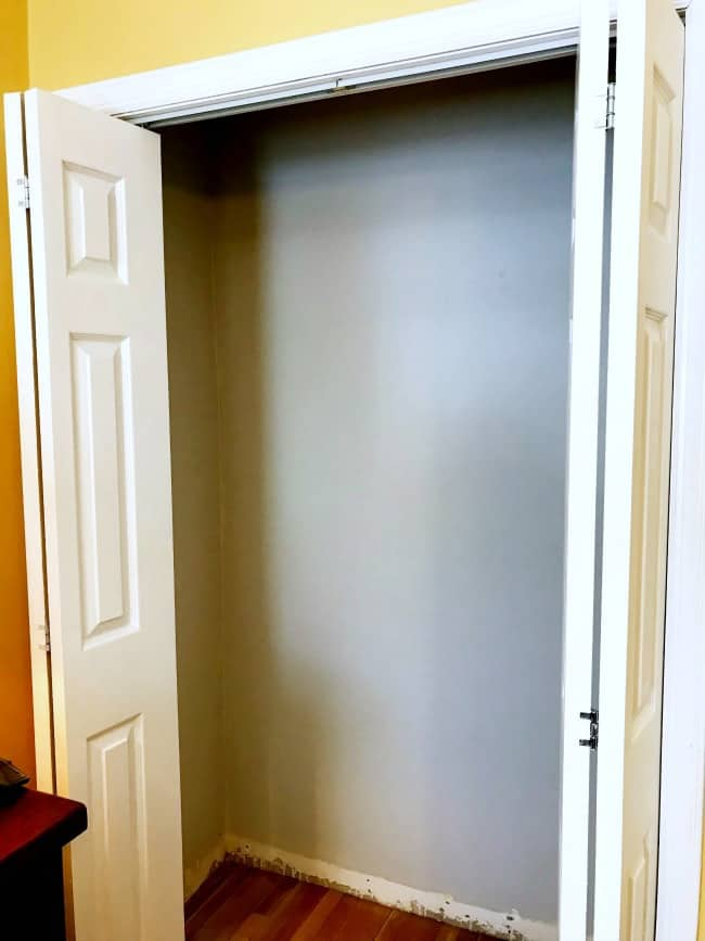 Find The Closet Doors Here Painted Walls Small Remodel Organization