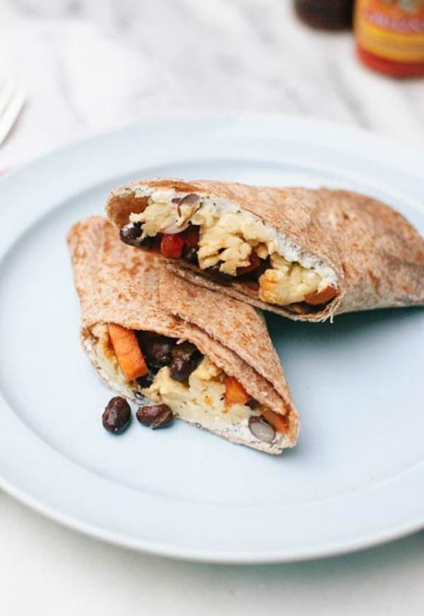 breakfast burrito, quick easy healthy breakfast, easy breakfast idea, nutritious breakfast ideas
