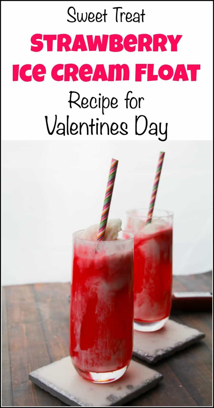 Sweet Treat Strawberry Ice Cream Float For Valentines Day