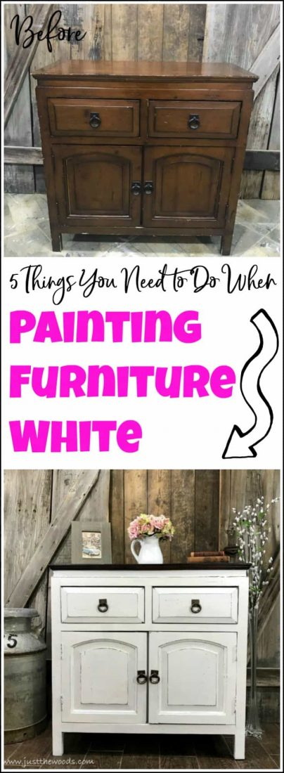 Curious How To Paint Furniture White Is There A Secret Painting