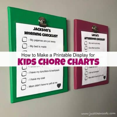 How to Make a Printable Display for Kids Chore Charts (free printables)