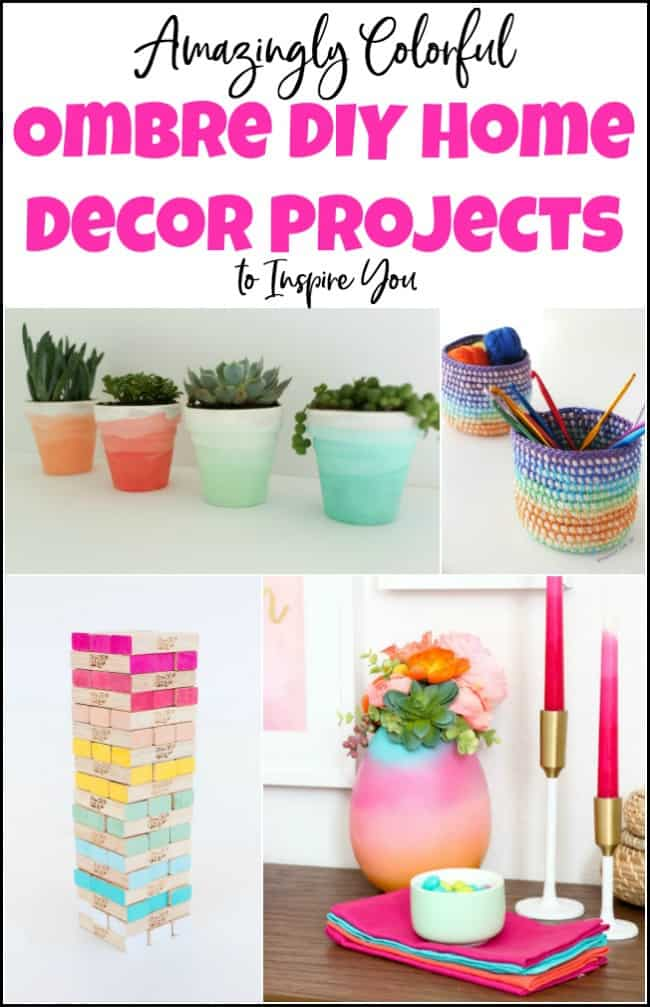 ombre home decor, diy ombre, diy home decor projects, diy decor projects