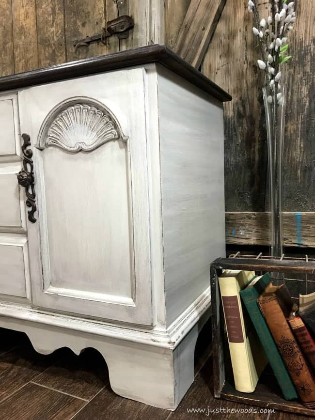 glazed painted furniture, glaze on white painted furniture, painted chest