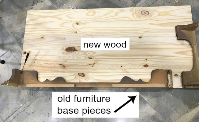 build wood furniture base, replace wood furniture, rebuild furniture, repair furniture