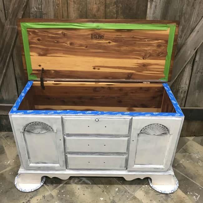 primer on old furniture, lane chest, lane alta vista