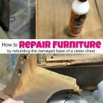 How to Save & Repair Furniture by Rebuilding the Damage Area