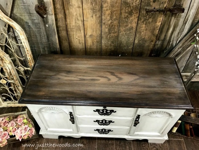 farmhouse stain finish, weathered stain, painted cedar chest, lane cedar hope chest