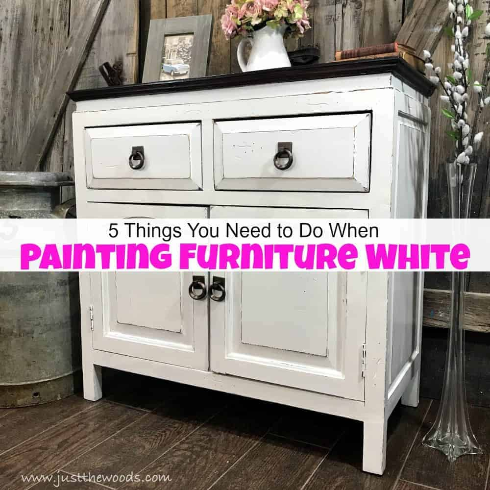 Secrets To Painting White Furniture