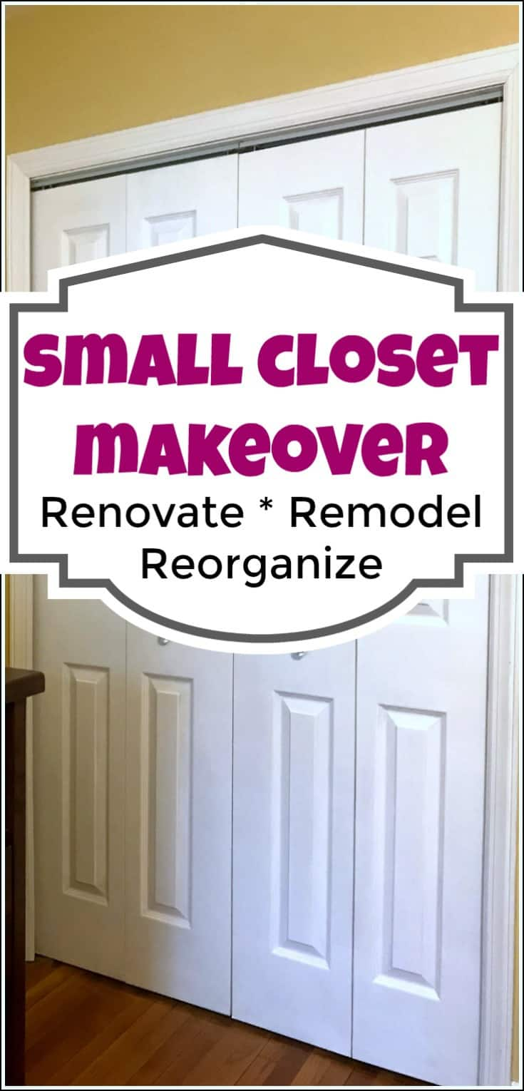 Organizing a small closet can be tricky. Here are my best ever solutions for small closet organization as well as how to organize shoes in a small closet. With a small closet organizer, you can fit more than you think. organize small closet, organizing small closet, how to organize a small closet