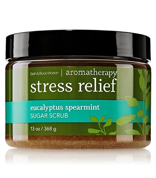 eucalyptus spearmint sugar scrub, stress relief sugar scrub