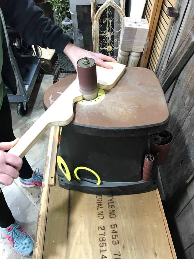 spindle sander, repair furniture, woodworking, replace furniture legs