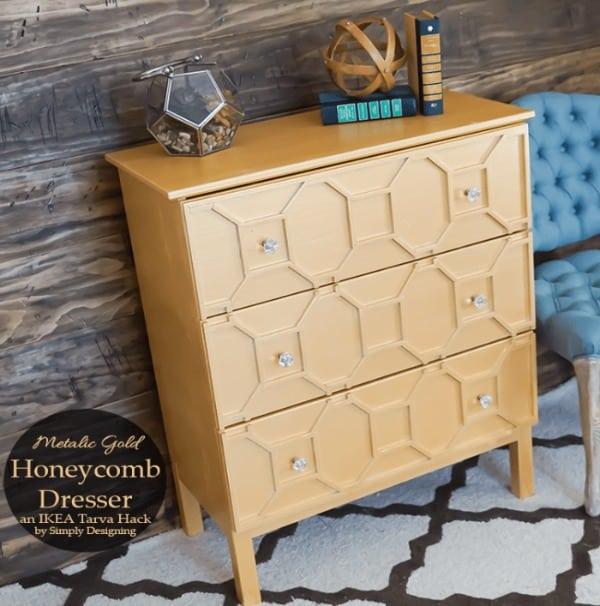 painted furniture makeover gold metallic. An Ikea Dresser Hack Can Transform A Piece Of Basic Flat Furniture Into So Much More Painted Makeover Gold Metallic