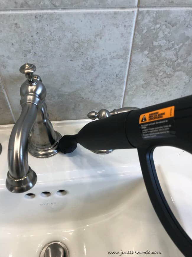 how to clean bathroom faucet, clean bathroom sink, cleaning the bathroom