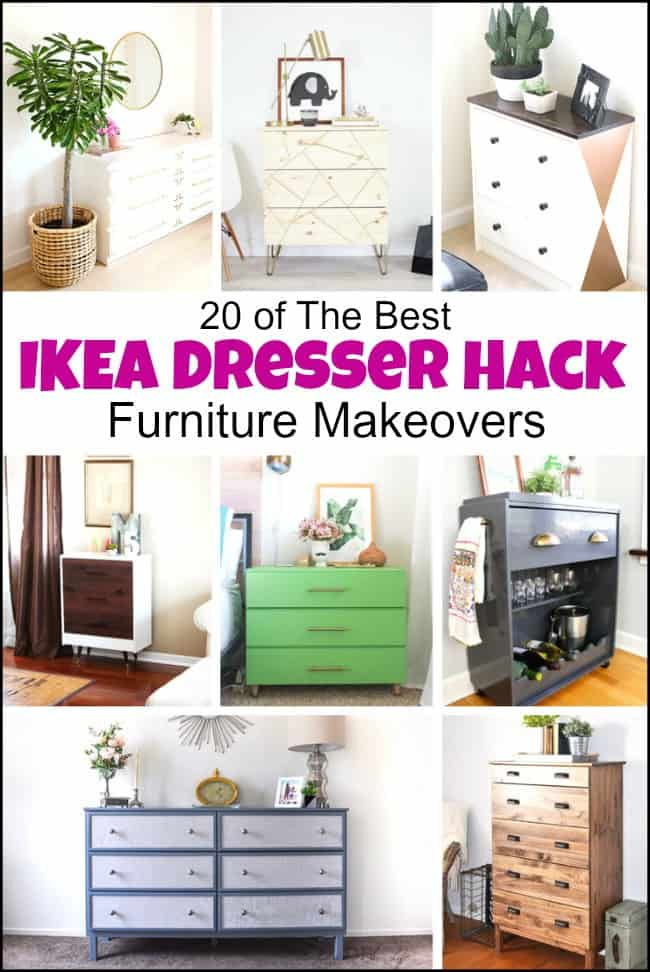 An Ikea dresser hack can transform a piece of basic flat furniture into so much more. Ikea hack ideas, #Ikeadressermakeovers #furniturehacks #dressermakeovers #IkeaMalmdresserhack #Ikeahacksdresser #Ikeahemnesdresserhack #Ikeahackdresser #Ikeadresserhacks #Ikearastdresserhack #Ikearasthack #Ikeapinedresser #DIYdresserideas #dresserideas #paintedfurnituremakeovers #furniturebeforeandafter