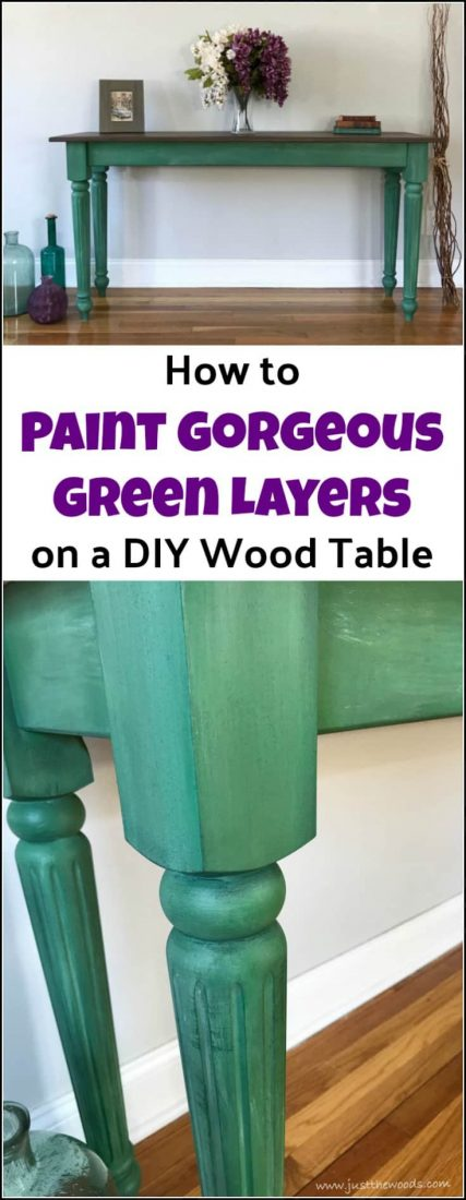 Curious how to make a wood table? This DIY wood table is easier than you think. Using a furniture kit you can create homemade wooden tables with ease. See how to make a wooden table the easy way and then paint it gorgeous in green. DIY wood table & painted furniture in one project. #howtobuildatable #howtomakeatable #paintedfurniture #furniturepainting #buildyourowntable #howtobuildawoodentable #DIYtableideas #buildingawoodtable #Osbornewoodproducts #DixieBellepaint