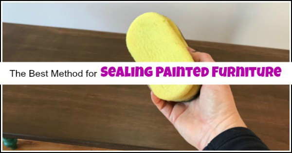 sealing painted furniture, how to seal painted furniture, video tutorial